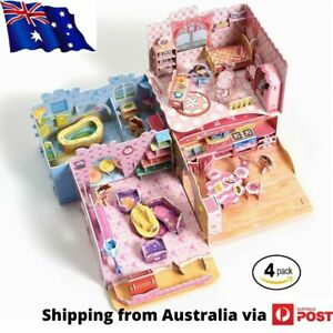 Make Your Own Dollhouse - 3D Puzzle Play Set - Ideal Girls 5-10 Educational Toys