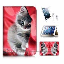 ( For iPad mini Gen 1 2 3 ) Flip Case Cover P3459 Cute Cat