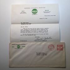 Vintage Midcentury GE Electric Stations WRGB TV Letterhead 1954 Schenectady, NY