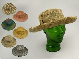 100% Hemp Sun Hat - Hand Crafted Eco friendly - Made In Nepal ॐ