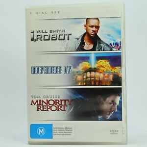 I, Robot/Independence Day/Minority Report 3 Movie Pack DVD GC Free Tracked Post