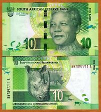 South Africa, 10 rand, ND (2012), P-133, UNC > Mandela, Rhino