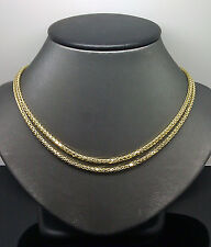 10K Yellow Gold Brand New Palm Chain 3mm 36 Inches Franco, Rope, Cuben
