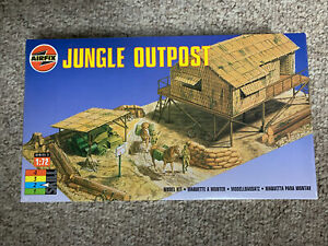Airfix 1:72 scale Series 3 Jungle Outpost Plastic Model Kit Sealed In Box
