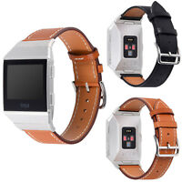Retro Genuine Leather Band Wrist Bracelet Vintage Watch Strap for Fitbit Ionic