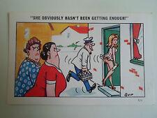 Sapphire Publications Saucy Postcard ~ Artist QUIP ~ Milkman Humour #2