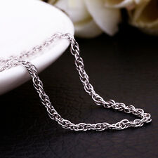 "Stunning Platinum Plated Rope Long Chain Necklace 26""+ 2"" ext. chain (029)"