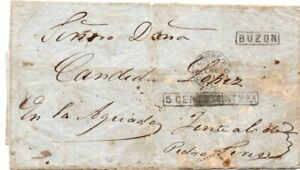 URUGUAY: Cover Buzon to Pedro Seres 1874.