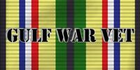 "Gulf War Veteran Vet Ribbon Vinyl Decal Bumper Sticker 3.75""x7.5"""