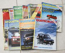 QUATTRORUOTE ANNATA ANNO 1989 11 NUMERI LOTTO RIVISTA MENSILE AUTO VINTAGE