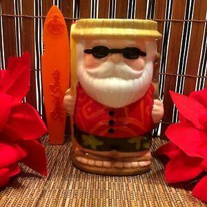 Beachbum Berry Sippin' Surfin' Santa Ceramic Tiki Mug 16oz New In Box SEE VIDEO