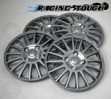 """#611 Replacement 16"""" Inches Metallic Silver Hubcaps 4pcs Set Hub Cap Wheel Cover"""