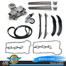 GENUINE For Hyundai Kia 3.3L 3.8L Timing Chain Kit Oil Pump Valve Cover Gaskets