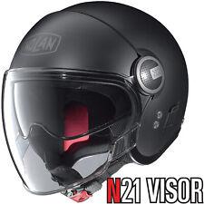 NOLAN Jethelm N21 VISOR CLASSIC schwarz matt Motorrad mit Visier Sonnenblende