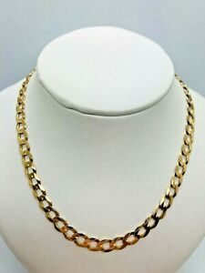 9ct Yellow Solid Gold Curb Chain - 22""