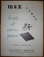 Max ERNST Affiche Lithographie Union 1964 Surréalisme art Abstrait abstraction