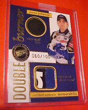 2007 JIMMIE JOHNSON PRESS PASS DOUBLE BURNER RACE-USED SHEET METAL TIRE #/100