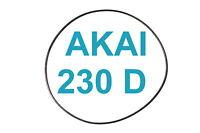 SET BELTS AKAI GX 230 D REEL TO REEL EXTRA STRONG FACTORY FRESH 230D GX230D