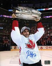 Patrice Bergeron Boston Bruins Signed Autographed Canada Raising World Cup 8x10
