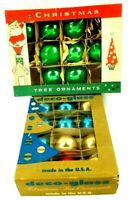 2 Vintage Boxes of Fantasia & Deco Glass Christmas Tree Ornaments 19 Total LOT