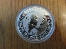 1993 Kookaburra 1oz Silver Bullion coin - BUNC in capsule
