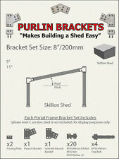 Skillion Shed 8inch C Section Purlin Bracket Set-Garage-Farm-Barn-Steel Plate