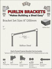 Skillion Shed 8inch C Section Purlin Bracket Set-Garage-Farm-Barn-Steel Plate