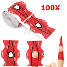 100pcs/roll Oval Shape Adhesive Nail Art Form UV Gel Tips Extension DIY Tools