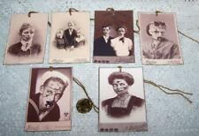 Halloween~Vintage~Zombie~Photo~Creepy~Linen Cardstock~Gift~Hang~Tags~Set 2