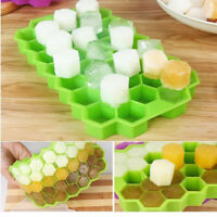 37Cell Honey Comb Ice Cubes Frozen Mini Cube Silicone Tray Cake Mold Tool DIY sq