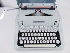 Vintage Hermes 3000 Portable TYPEWRITER w/ Case & Key Seafoam Green