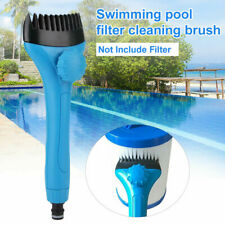 HOT~Pool & Spa Filter Cartridge Cleaner Wand w/ Swimming Pool Cleaning Brush Set
