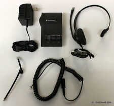 Plantronics M12 Headset System - w/ Corded headset, Phone cable & AC Adapter