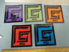 GNU snowboard 2014 HUGE 5 STICKER SET New Old Stock Mint Condition Lib Tech