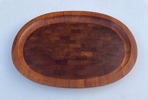 Vintage Dansk Large Carving Board Tray Staved Teak Jens Quistgaard IHQ Denmark
