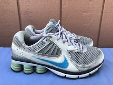 2010 Nike Shox Qualify+ Women's Size US 7.5 White Silver Baby Blue 396658-084 A7