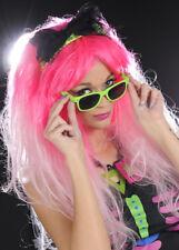 Da Donna Deluxe 80 S Parrucca Rosa con Fascia per capelli