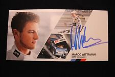 Card BMW Motorsport Team RMG DTM 2014 #23 Marco Wittmann (GER) Signed