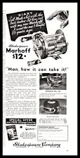 1935 SHAKESPEARE MARHOFF Fishing Reel Vintage Print AD ofl antique advertising