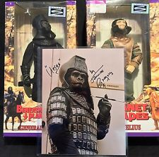 Planet of the Apes Action Figures Set (Cornelius & Ursus) + 8x10 Autographed
