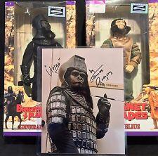 Planet of the Apes Action Figures Set (Cornelius & Ursus) + 8x10 Autographed