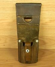WWll DATED 1943 SWISS ARMY MILITARY BAYONET LEATHER FROG FREE SHIPPING!