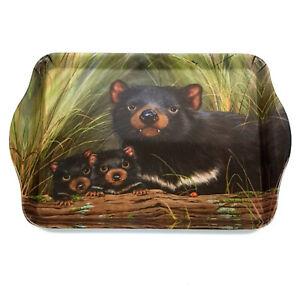 Australia Souvenir Ashdene Melamine Scatter Sandwich Tray Fauna Tasmanian Devils