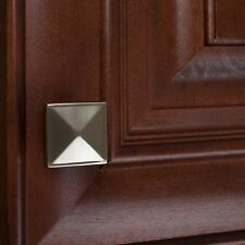 "5207-Sn 1-1/4"" Square Pyramid Cabinet Knob - Satin Nickel"