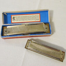 Two Vintage M Hohner Marine Band Harmonicas One in Box Key of C Germany