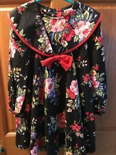 Vintage La Princess Floral Dress Long Sleeve USA 5/6