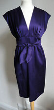 DEREK LAM PURPLE BOW TIE KIMONO DRESS 8-10 £1289
