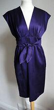 DEREK LAM PURPLE BOW TIE KIMONO DRESS 8-10 £1289