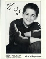 MICHAEL ANGARANO CHILD ACTOR SIGNED PHOTO VINTAGE ORIGINAL AUTOGRAPH