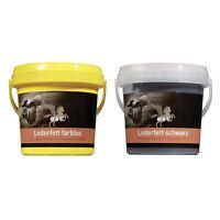 B & E Lederfett 2 x 500 ml - schwarz + farblos - Glattleder Pflege Lederpflege